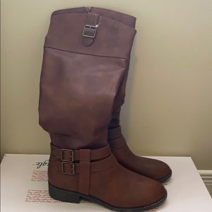 American Eagle Cognac Knee High Boots Brand New
